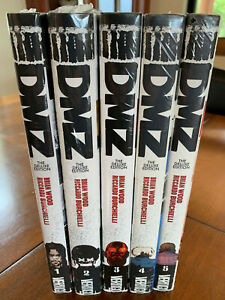 DMZ Deluxe Edition Complete Hardcover Set Vol 1 2 3 4 5 Brian Wood NEW! SEALED!