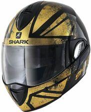 SHARK EVOLINE 3 TIXER KUQ GOLD MOTORCYCLE HELMET - LARGE