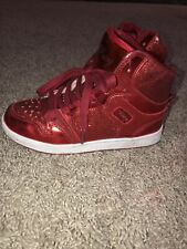 New listing Love Pastry RED🔴 Glitter High Top Tennis Shoes with Red Laces Girls Size 1