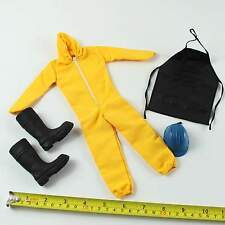 TE08-23 1/6 Scale ZCWO Mens Hommes Vol.15 Yellow Protective Coverall