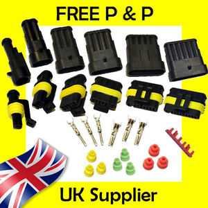 AMP Tyco TE Superseal Style Electrical Waterproof Connectors 1 2 3 4 5 6 Way