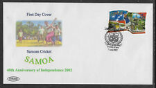 SAMOA 2002 INDEPENDENCE Single CRICKET value First Day Cover