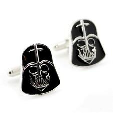 DARTH VADER CUFFLINKS Star Wars Black NEW w GIFT BAG Pair Men's Accessory Gift