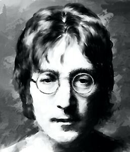 John Lennon paintings in acrylic on canvas by Brian Tones