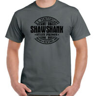 Shawshank Redemption Mens Retro Film T-Shirt 90s Movie Stephen King Prison Top