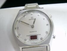 STAINLESS STEEL VINTAGE ZENITH LED DIGITAL ANALOG WATCH