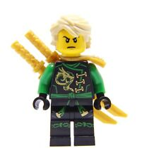 LEGO® Ninjago Skybound Green Ninja Hair Minifigure Lloyd Dual Gold Swords