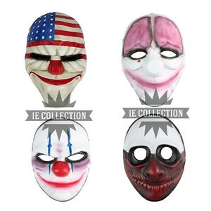 Payday 2 Masques Cosplay Dallas Wolf Hoxton Chains Masque payday2 Horreur