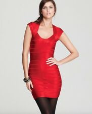 FRENCH CONNECTION FCUK red spotlight bandage bodycon knit dress size 14 RRP£140