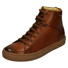 Jarrett Base London Hombre Cuero Casual Elegante Invierno Botines Hi Top Zapatos