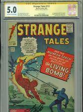 1963 MARVEL STRANGE TALES #112 CGC 5.0 STAN LEE SIGNED SIGNATURE SERIES BOX4