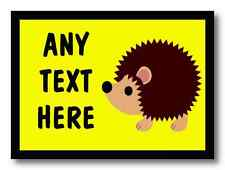 Yellow Hedgehog Personalised Dinner Table Placemat
