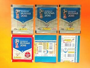 Panini World Cup 2018 Collection - 39 Different Sealed/Unopened Packets