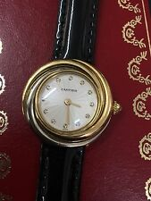 Cartier Genuine Leather Strap Adult Wristwatches