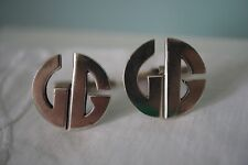 Vintage Mexico JMC Abstract Sterling Silver 925 Cufflinks