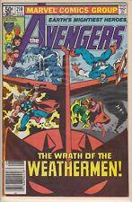 AVENGERS THE WRATH OF THE WEATHERMEN AUG #210 MARVEL COMIC BOOK 1981