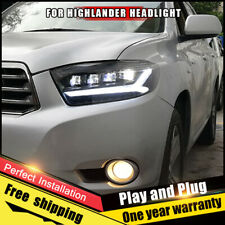 For Toyota Highlander Headlights assembly FULL LED Double Beam LED KIT 2008-2010