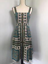 NWT J Crew Collection Paisley Sundress Sz 2 #82407 $425 green blue ivory