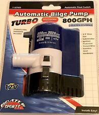 BOAT AUTOMATIC SUBMERSIBLE BILGE WATER PUMP 750 GPH W/ BUILT IN FLOAT SWITCH