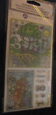 NEW Hampton Arts Coloring Clear Stamps Cling 11pc Sun Tree House Flowers You Are