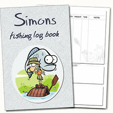 Personalised A5 Fishing Log Book/ Diary, Fishing Journal, Anglers Log Book (a)