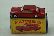 VINTAGE MATCHBOX CAR SUPERFAST 24 ROLLS ROYCE SILVER SHADOW BOX TOY LESNEY RED