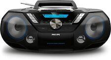 Philips AZB798T 12W Bluetooth CD-Soundmachine mit DAB+/UKW-Radio und Kassettendeck - Schwarz