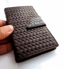 genuine vintage leather Case for Samsung Galaxy Note 3 book wallet magnet brown