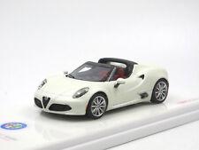 TSM Model TSM430141 Alfa Romeo 4C Spider 2016 mattweiss - Modellauto 1:43