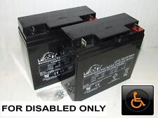 2 x LEOCH 12V 18ah (Can also Replace 17ah & 20ah) MOBILITY SCOOTER BATTERIES