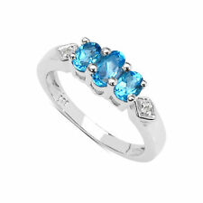 Gioielli di lusso blu topazio ovale