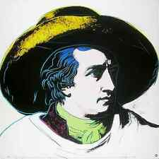 Andy Warhol Goethe white background gross Poster Kunstdruck Bild 97x97cm