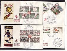 MONACO   enveloppe 1er jour  centenaire du football   1963