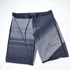 Oneill HydroFreak Board Shorts  Mens Size 34 Black Swimming
