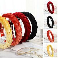 Women's Accessories Hair Hoop Twist Hairband Braided Knot Tie Headband Velvet