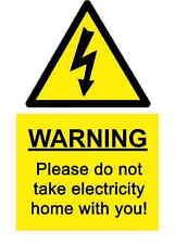 A5 Comedia Lugar De Trabajo Electricidad Adhesivo - DERRAME peligro ACCIDENTE