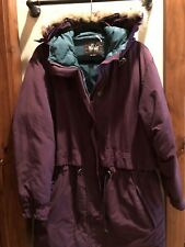 Woolrich Womens Down Parka Eggplant Medium
