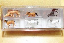 Z scale Preiser Assorted HORSES Animal Figures 88578