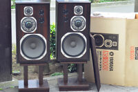 Yamaha NS1000 NS-1000 Pair Speakers Stand Set Rare Used Japan