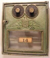 New listing Antique Corbin Post Office Mail Box Door With Eagle Decoration Good Bank Door
