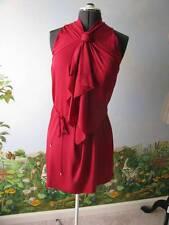 "Diane von Furstenberg DVF ""Morana"" Raspberry Sleeveless Silk Dress Size 14 New"