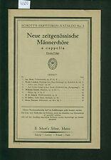 Neue zeitgenössische Männerchöre a capella 1925 Partituren-Katalog No. 3