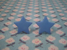 Funky Blue Star Aretes Cute Kitsch Retro 60s 70s 80s Boho Vintage Goth Rock