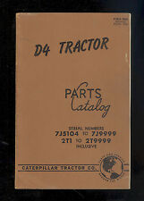 1951 CATERPILLAR D4 TRACTOR PARTS MANUAL / 7J5104 to 7J9999 / 2T1 to 2T9999