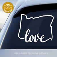 "Oregon State ""Love"" Decal - OR Love Car Vinyl Sticker - Add a heart over a city!"