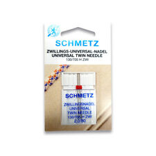 Schmetz Twin Needle 2.0mm Size 80/12 - Great for General Sewing and Quilting