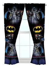 "Window Drapes Warner Bros Batman Safe Again 82 x 63"" Curtains Hardware Home Kid"