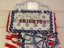 Womens Canvas Tote Handbag Beach Ships Wheel Anchor S.S. Brighton  H19