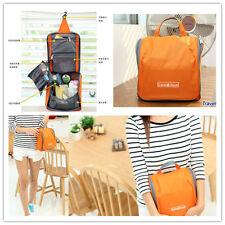 Orange Fashion Hanging Travel Camping Gym Makeup Cosmetic Toiletry Wash Kit Bag