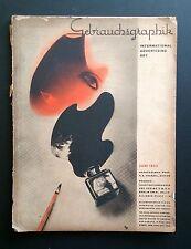 Gebrauchsgraphik International Advertising Art June 1933 Graphic Design Deco